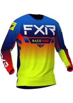 Picture of Helium Cross shirt - Blauw/Hi-vis/Rood - FXR