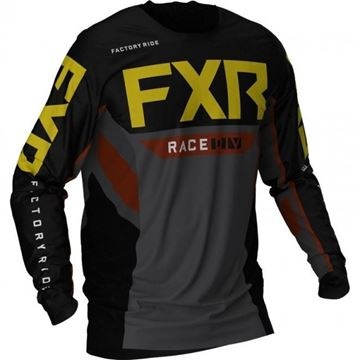 Picture of Podium Off-road shirt - Zwart/Char/Roest/Goud - FXR