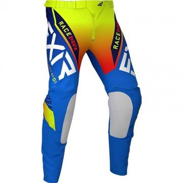 Picture of Youth Pro-stretch Helium Crossbroek - Blauw/His-Vis/Rood - FXR