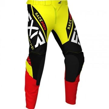 Picture of Youth Pro-stretch Helium Crossbroek - Geel/Zwart/Rood - FXR