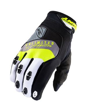 Picture of Safety Gloves Black Grey Neon Yellow