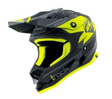 Afbeeldingen van Track Kid Helmet Black Neon Yellow