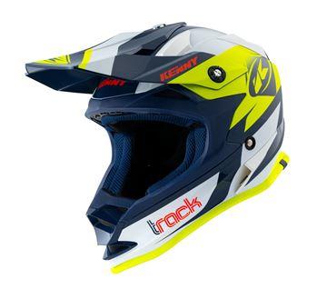 Afbeeldingen van Track Kid Helmet Navy Neon Yellow