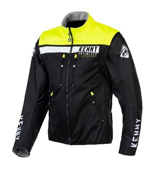 Picture of Enduro Softshell Jacket Black Neon Yellow