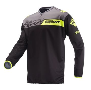 Picture of Evasion Jersey Black Neon Yellow