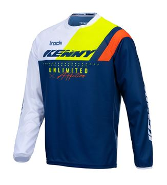 Picture of Focus Track Kid Jersey Navy Neon Yellow