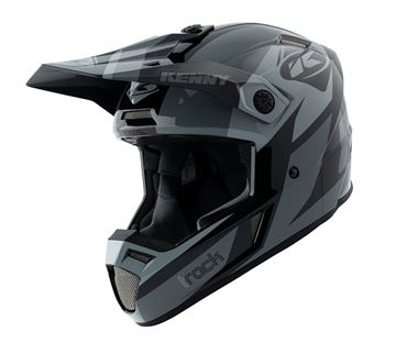 Picture of Graphic Adult Track Helmet Black Grey