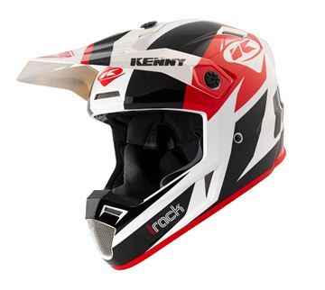 Picture of Graphic Adult Track Helmet Black Red