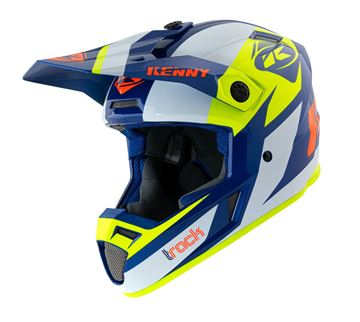 Picture of Graphic Adult Track Helmet Navy Neon Yellow