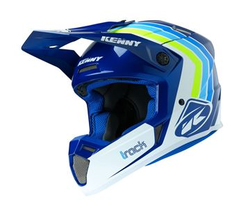 Picture of Graphic Adult Track Helmet Victory White Blue
