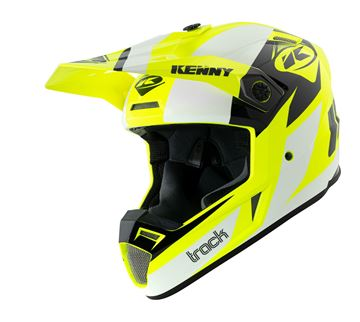 Picture of Graphic Adult Track Helmet White Neon Yellow