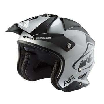 Picture of Graphic Trial Air Helmet Black Silver