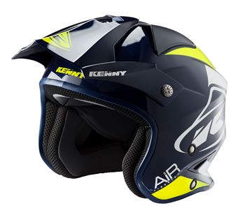 Picture of Graphic Trial Air Helmet Navy Neon Yellow