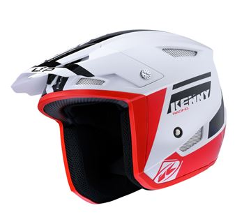 Picture of Graphic Trial Up Helmet Black Red