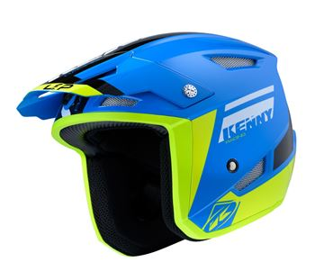 Picture of Graphic Trial Up Helmet Blue Neon Yellow