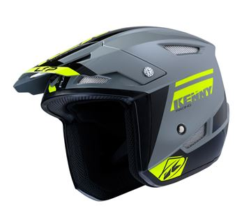 Picture of Graphic Trial Up Helmet Grey Neon Yellow