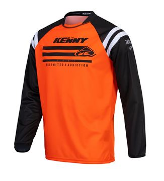 Picture of Raw Track Kid Jersey Neon Orange