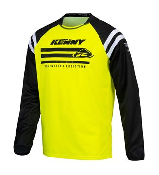 Picture of Raw Track Kid Jersey Neon Yellow
