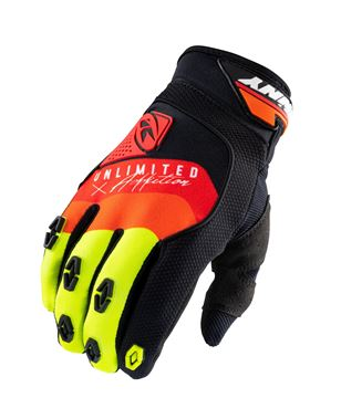 Picture of Safety Gloves Black Red Orange