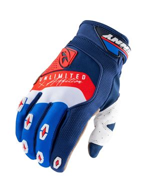 Picture of Safety Gloves Navy White Red