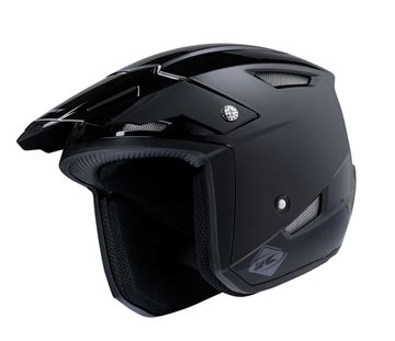 Picture of Solid Trial Up Helmet Black