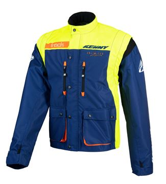 Picture of Track Jacket Navy Neon Yellow