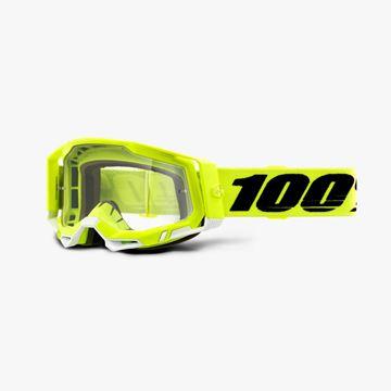Picture of 100% Racecraft 2 Yellow Crossbril - Helder