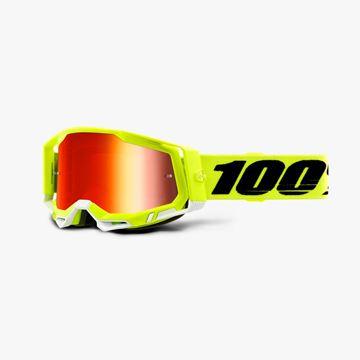 Picture of 100% Racecraft 2 Yellow Crossbril - Spiegel lens