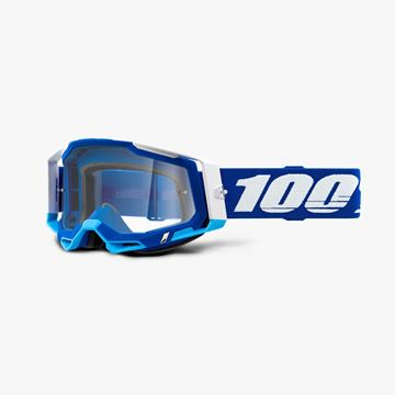 Picture of 100% Racecraft 2 Blue Crossbril - Helder