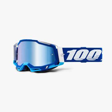 Picture of 100% Racecraft 2 Blue Crossbril - Spiegel lens
