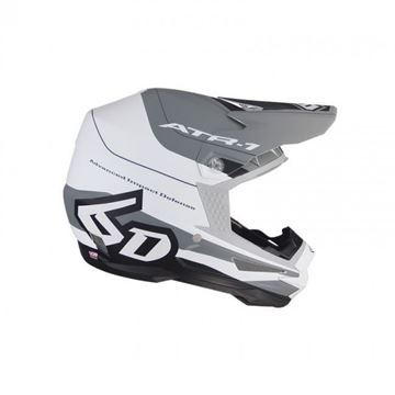 Picture of 6D Crosshelm ART-1 PACE White/Grey/Matte