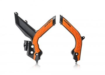 Picture of FRAME PROTECTOR X-GRIP KTM SX-SXF 19-20 - BLACK/ORANGE