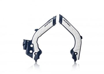 Picture of FRAME PROTECTOR X-GRIP HUSQ TC-FC 19-20 - WHITE/BLUE