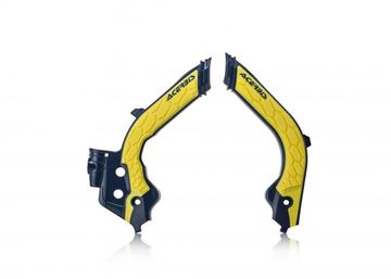 Picture of FRAME PROTECTOR X-GRIP HUSQ TC-FC 19-20 - YELLOW/BLUE