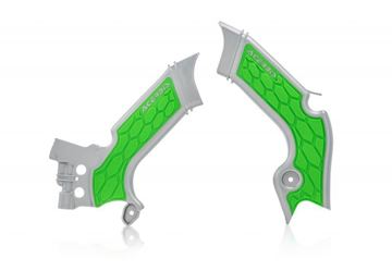 Picture of FRAME PROTECTORᅠX-GRIP KAW KXF 450 19-20 - GREY/GREEN