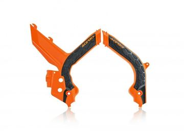 Picture of FRAME PROTECTOR X-GRIP KTM EXC 2020 - ORANGE/BLACK