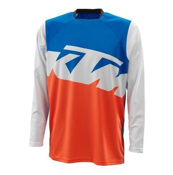 Picture of KTM Pounce cross shirt - Blauw/Oranje/Wit - 2021