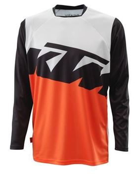 Picture of KTM Pounce cross shirt - Wit/Oranje/Zwart - 2021