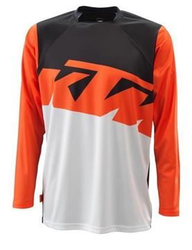Picture of KTM Pounce cross shirt - Zwart/Wit/Oranje - 2021
